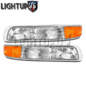 Left Right Pair Park Signal Lights For 1999 2006 Chevy Suburban Tahoe Silverado