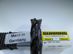 Guhring Carbide 1 2 End Mill 4 Flute Roughing Milling Rougher Hog Lathe Tool