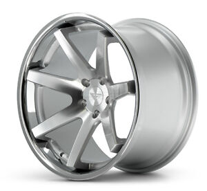 20 Ferrada Fr1 Silver Wheels Rims For Ford Mustang Eco V6 Gt Gt500 Boss