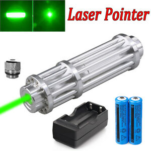 Military 532nm High Power Blue Laser Pointer Visible Beam Light Pen W star Caps