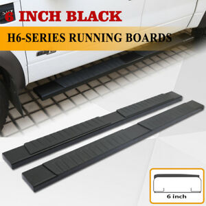 Fit 07 18 Chevy Silverado Crew Cab 6 Side Step Running Board Nerf Bar Black H