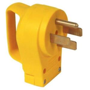 Camco Rv 50 Amp Replacement Male Electrical Power Cord Plug With Handle New