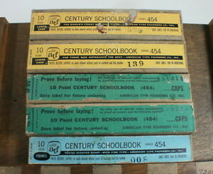 Atf Nos 10 Pt Century Schoolbook Two 2 Fonts In Wraps Metal Type