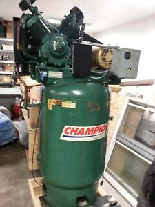 Champion Vr10 12 Air Compressor Pump Unit 10hp 34 8cfms Newark Ohio