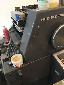 Heidelberg Tok Workhorse Parting Out Good Running Press Heidelberg