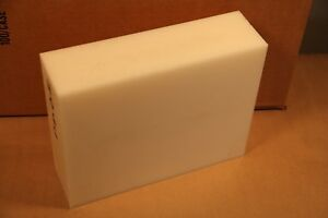 3 Natural Delrin Block Acetal Sheet Stock 8 5 x 10 5 Cnc Plastic 4066