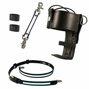 Boston Leather Firefighter s Bundle Anti sway Strap For Radio Belt With 2 Co