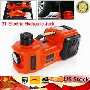 3 In 1 12v Dc 3t Auto Electric Hydraulic Floor Jack Lift Car Repair Vans Trucks