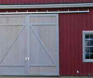 Barn Door Sliding Kit 12 Track For 2 Doors Up To 3 Ea trolleys Brackets Usa