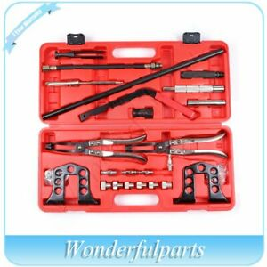 Steel Valve Spring Compressor Stem Seal Installer Remover Tool Set With Case New