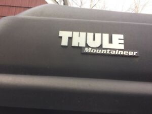 Thule Mountaineer Top Carrier Cargo Box With Mounting Hardware