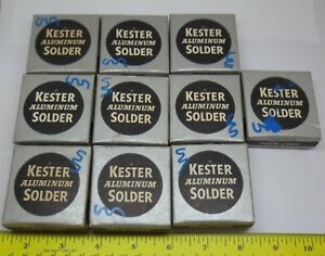 Vintage Kester Aluminum Solder 1 Oz Lot Of 10 In Original Boxes Nib Flux Core