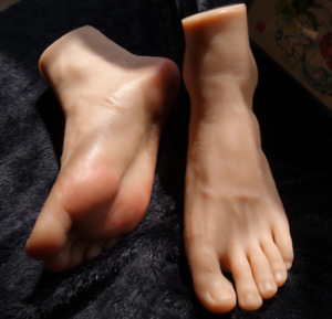 1pair High Quality Silicone Feet Model Men s Foot Mannequin Display Shoes socks