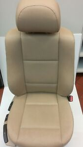 Genuine Bmw Front Right Seat Passenger Side Tan Leather 325i Sedan 2001 2005