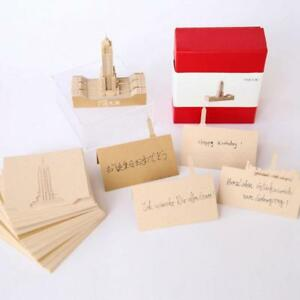 1 X Empire State Building 3d Memo Pad With Red Box Creative Adhesive Note
