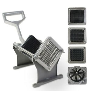 14 96 X 7 68 X 9 45 Potato French Fry Fruit Vegetable Cutter Slicer 4 Blades