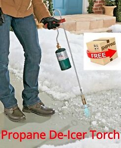 Propane De icer Torch Remove Snow From Walkways Pathways Flame Campfire Ice Melt