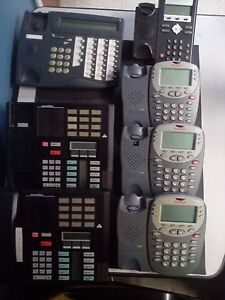 Lot Of 7 Display Office Phones meridian Tadiran Telecom Avaya
