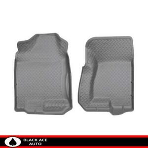 Husky Classic Front Floor Mats Grey For Chevy Gmc Caddy Truck Suv 1999 07 Cc Ec