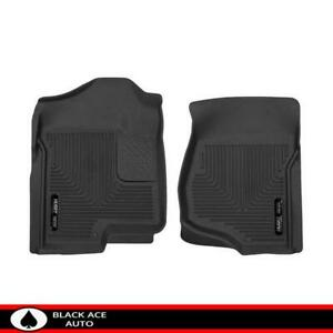 Husky X Act Contour Front Floor Mats Black For Gm Truck Suv 2007 14 Crew Ext Cab