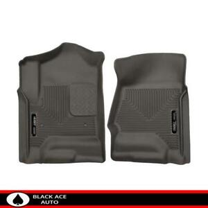Husky X act Contour Front Floor Mats Cocoa For Gm Truck suv 2014 18 Crew ext Cab
