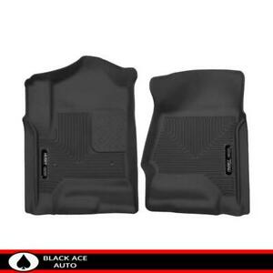 Husky X act Contour Front Floor Mats Black For Gm Truck suv 2014 18 Crew ext Cab