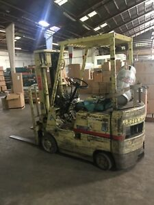 Mitsubishi M 140 Forklift Used And Operates Well Comes As Is In Photo