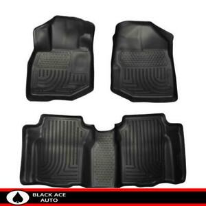 Husky Weatherbeater Front 2nd Seat Floor Mats Black For Honda Fit 2009 2013