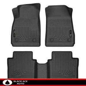 Husky Weatherbeater Front 2nd Seat Floor Mats Black For Chevrolet Impala 2014 18
