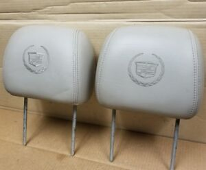 2003 2006 Cadillac Escalade Tan Leather Front Seat Headrests Head Rests
