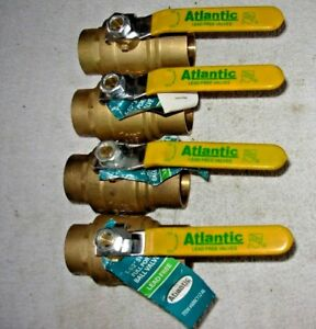 1 1 2 Sweat Brass Ball Valve Lead Free Nl 4 Atlantic Valve 18 Ea Free Shp