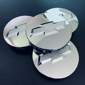 4 Chrome Wheel Rim Center Hub Cap For Chevy Silverado Suburban Tahoe 83mm 3 25
