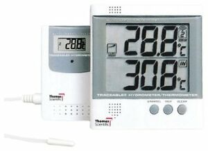 Thomas Traceable Abs Plastic Radio signal Thermometer With Remote Probe 58 To