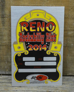 Dash Plaque Car Show Reno Rat Vtg Hot Rod Custom Club Timing Tag Old Rockabilly