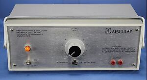 Aesculap Coagulator Esu Electrosurgical Unit Esu Warranty