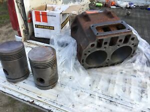John Deere 60 Engine Block And Pistons A4320r 045 Bored Over