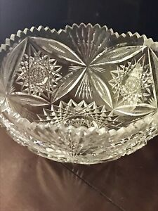 Abp American Brilliant Cut Glass Bergen Pilgrim