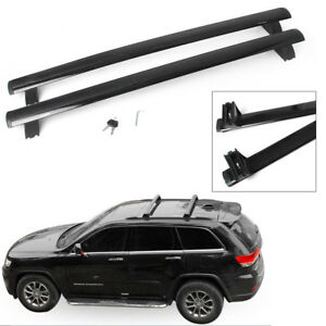 Car Top Roof Rack Cross Bar Cargo Luggages Fit Jeep Grand Cherokee 2011 18 Black