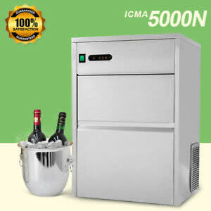 120 Lbs Commercial Ice Maker Machine Stainless Steel Clear Bullet Ice Restaurant