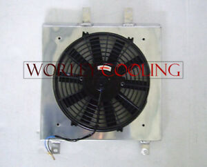 Aluminum Shroud Fan For Honda Civic Ek Eg 1992 2000 92 93 94 95 96 97 98 99 00