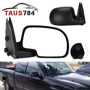 Passenger Right Side Fit For 99 06 Chevy Silverado Sierra Manual Side Mirror