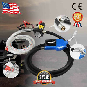 Dc 12v Portable Oil Diesel Fluid Transfer Pump Electric Extractor Auto Cut Speed