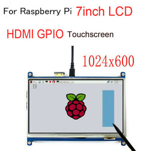 For Raspberry Pi 2 3 B Lcd 7inch Touch Screen Module 1024 600 Tft Display Hdmi