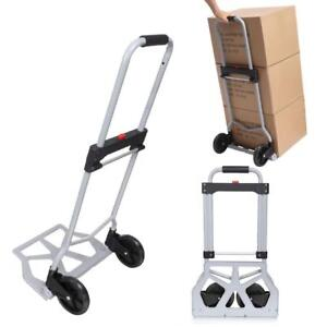 150 220lbs Trolley Dolly Folding Foldable Moving Warehouse Push Hand Truck