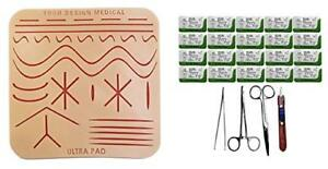 Your Design Medical 7x5 Durable Large 3 layer Suture Pad W Sutures