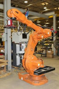 Abb Irb 6600 Industrial Robot With Irc5 Controller And Vision System Low Hours