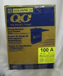 New Single Phase Square D Box Qo 120 240 Volt 100 Amp 1ph Circuit Breaker