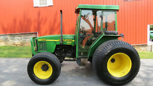 2001 John Deere 5410 4x4 Cab Utility Tractor 81hp Diesel Cold A c 3 Remotes