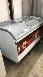 Commercial Ice Cream Dipping Cabinet Freezer 58