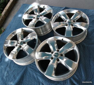 Set Of 4 20 Factory Jeep Grand Cherokee Oem Wheels Rims Polished 2011 2014 9107